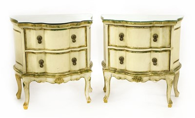 Lot 17-A pair of modern painted bedside chests