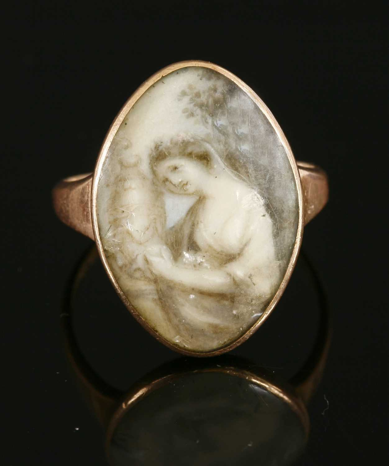 Lot 20-A Georgian gold memorial ring