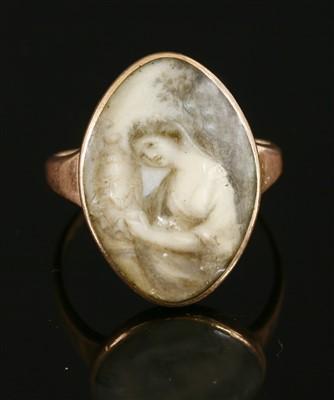 Lot 20-A Georgian gold memorial ring