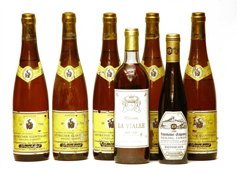 Lot 1-Oestricher Klosterberg, 1971; Ch La Vialle, 1982 and Badenheimer Galagenberg, 1989, 6.5 btls total