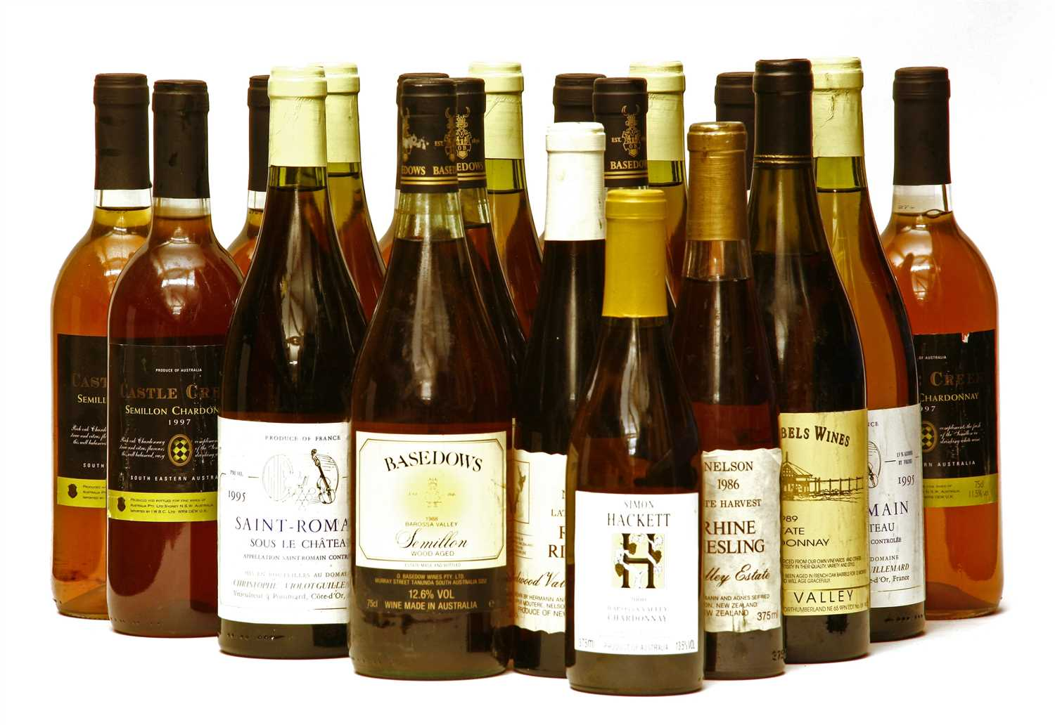 Assorted White Wine to include: Basedows, Semillon, 1988