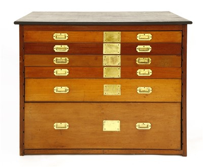 Lot 33-A set of six mahogany drawers