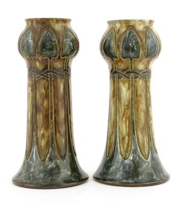 Lot 22-A pair of Royal Doulton stoneware vases