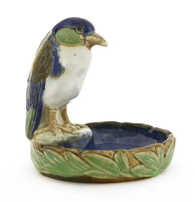 Lot 23-A Royal Doulton Lambeth stoneware soap dish or bibelot