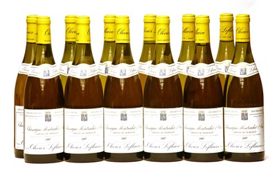 Lot 6-Olivier Leflaive, Chassagne-Montrachet 1er Cru, 1997, twelve bottles (boxed)