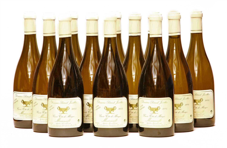 Lot 7-Domaine Patrick Javillier, Cuvée Tête de Murger, Meursault, 2004, twelve bottles (boxed)