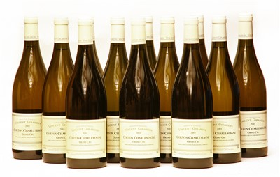 Lot 8-Vincent Girardin, Corton Charlemagne, Grand Cru, 2001, twelve bottles (boxed)