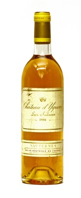 Lot 21-Château d'Yquem, Lur-Saluces, 1986, one bottle