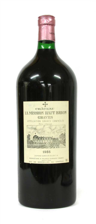 Lot 180-Chateau La Mission Haut-Brion, Cru Classé des Graves, 1985, one six litre bottle (owc)