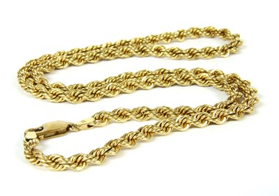 Lot 11-A 9ct gold rope chain