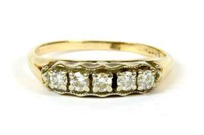 Lot 22-A five stone diamond ring