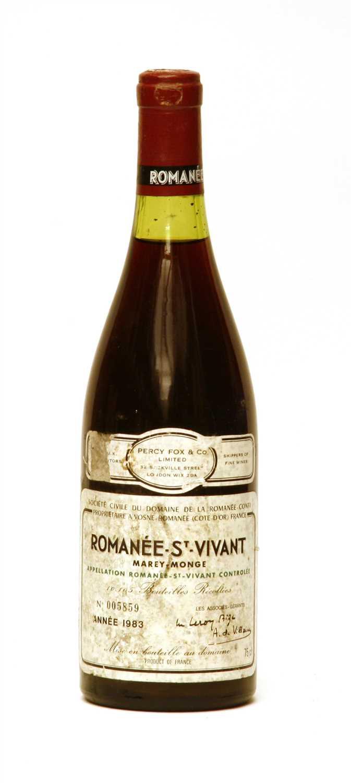 Lot 131-Romanée-St-Vivant, Grand Cru, Marey-Monge, No. 005859, 1983, one bottle