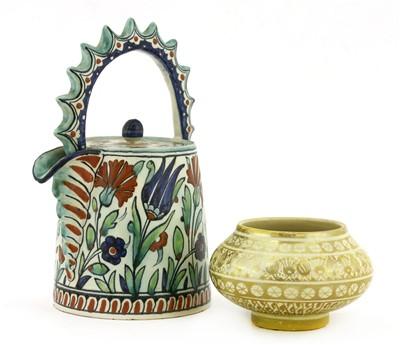 Lot 5-A Cantagalli Iznik-style pottery teapot