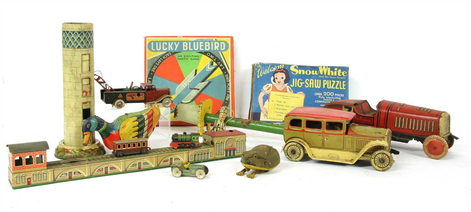 217 - A collection of 1930s and later toys,