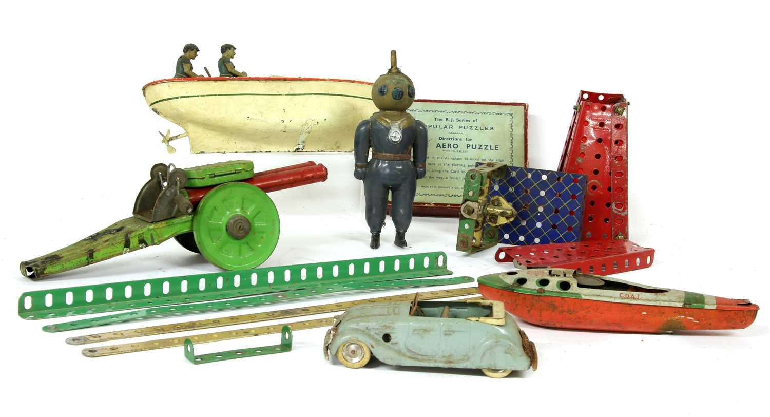 228 - A large collection of 1930s and later toys,