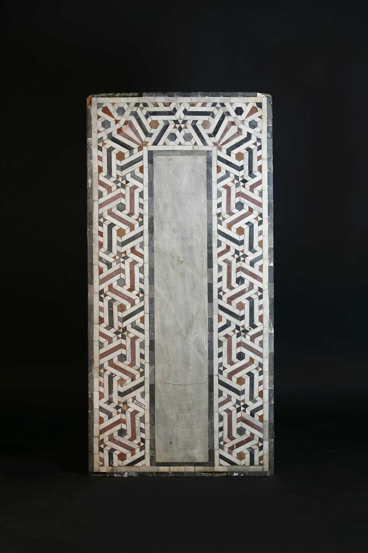 Lot 472 - Two Mamluk (15th-17th century CE) rectangular mosaic panels