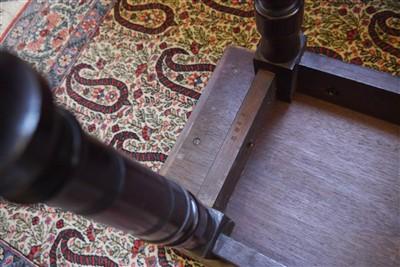 Lot 143 - A pair of mahogany library armchairs