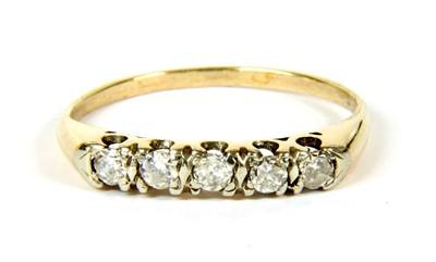 Lot 24-A five stone diamond ring