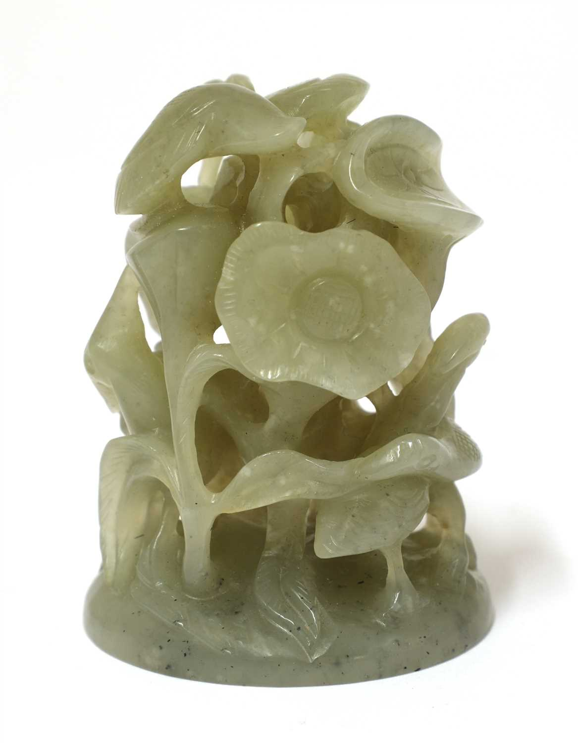 Lot 308 - A Chinese jade cap finial