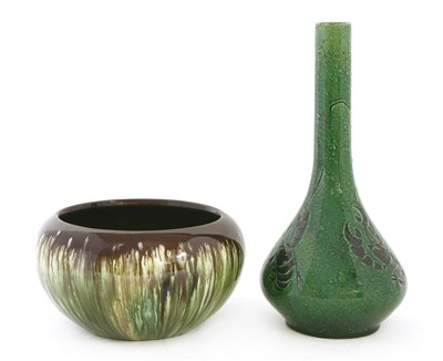 Lot 2-A green pottery vase