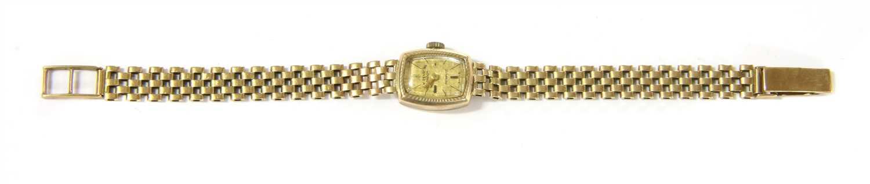 Lot 20-A ladies 9ct gold mechanical J W Benson Incabloc watch