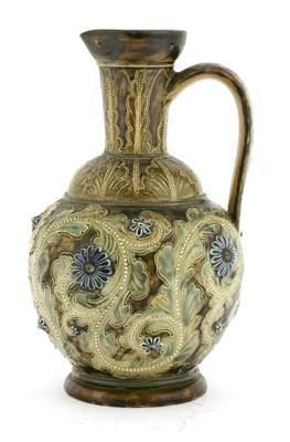 Lot 14-A Doulton Lambeth stoneware ewer