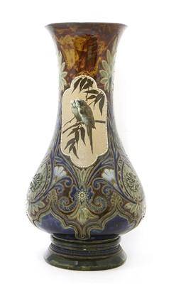 Lot 21-A monumental Doulton Lambeth stoneware vase