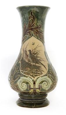 Lot 20-A monumental Doulton Lambeth stoneware vase