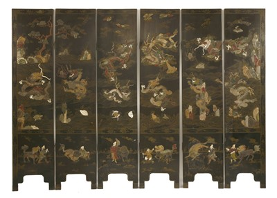 Lot 316-A Chinese six-fold screen