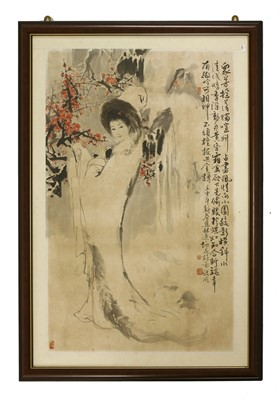 Lot 310 - A Chinese gouache painting