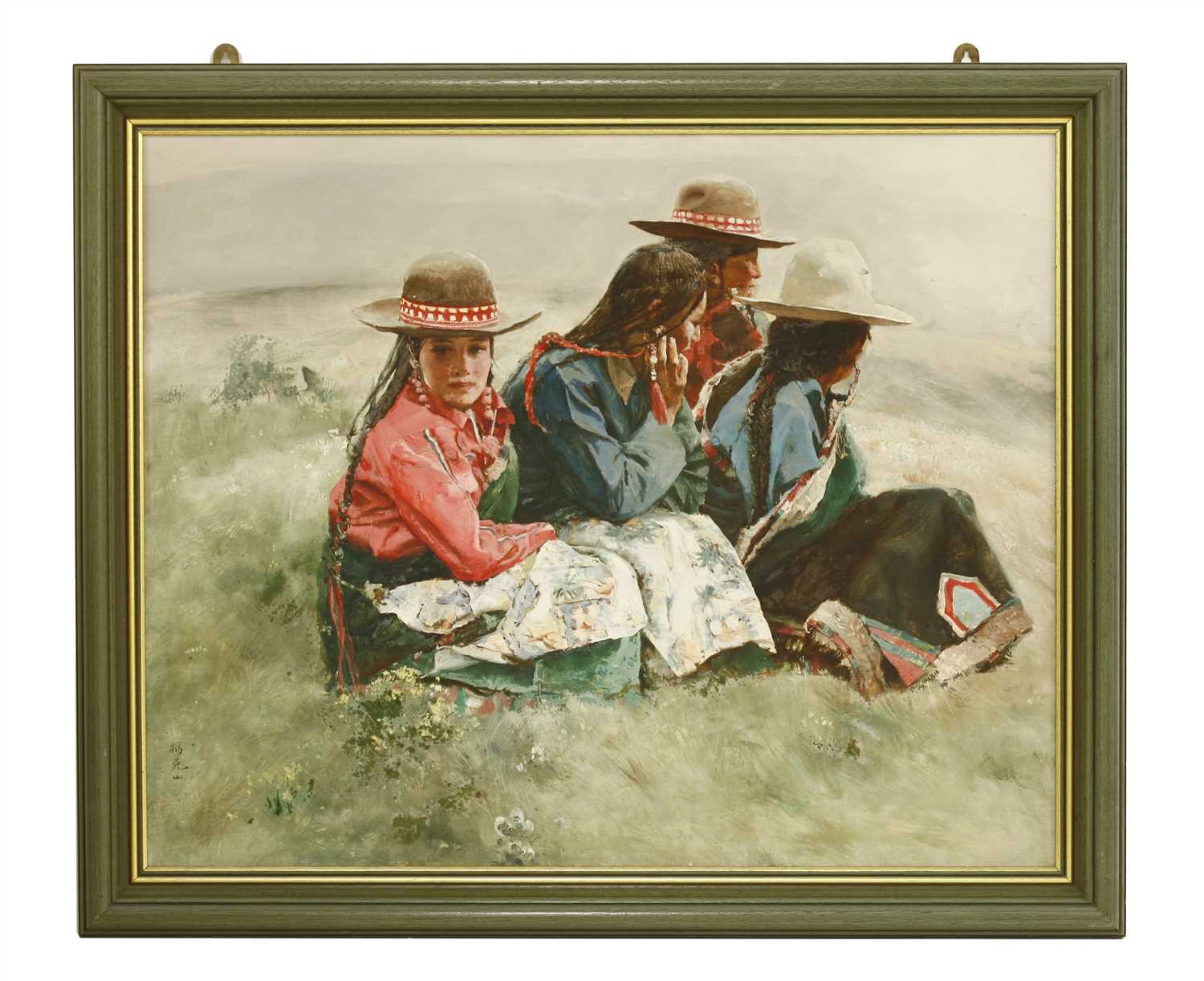Lot 326-A Chinese acrylic painting