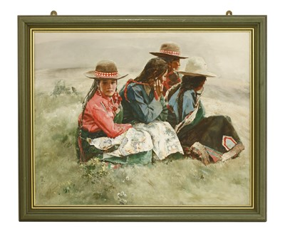 Lot 326 - A Chinese acrylic painting