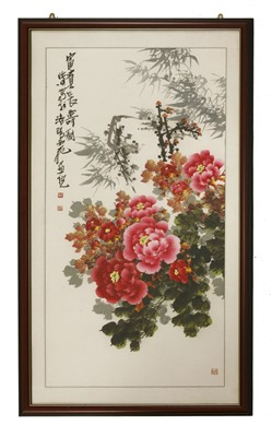 Lot 314 - A Chinese gouache painting