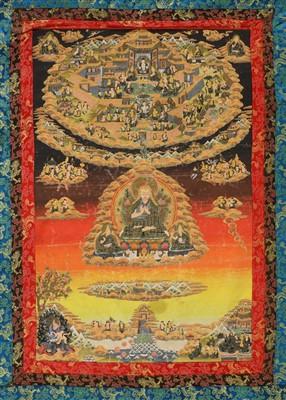 Lot 328 - A Tibetan thangka