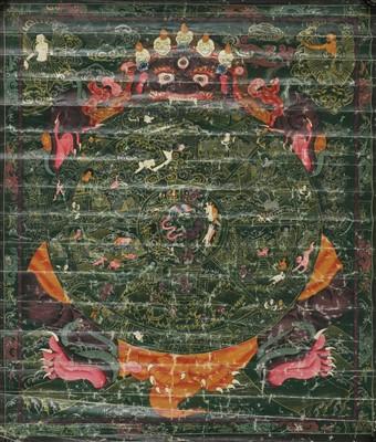 Lot 329 - A Tibetan thangka