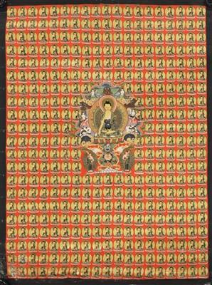 Lot 330 - A Tibetan thangka