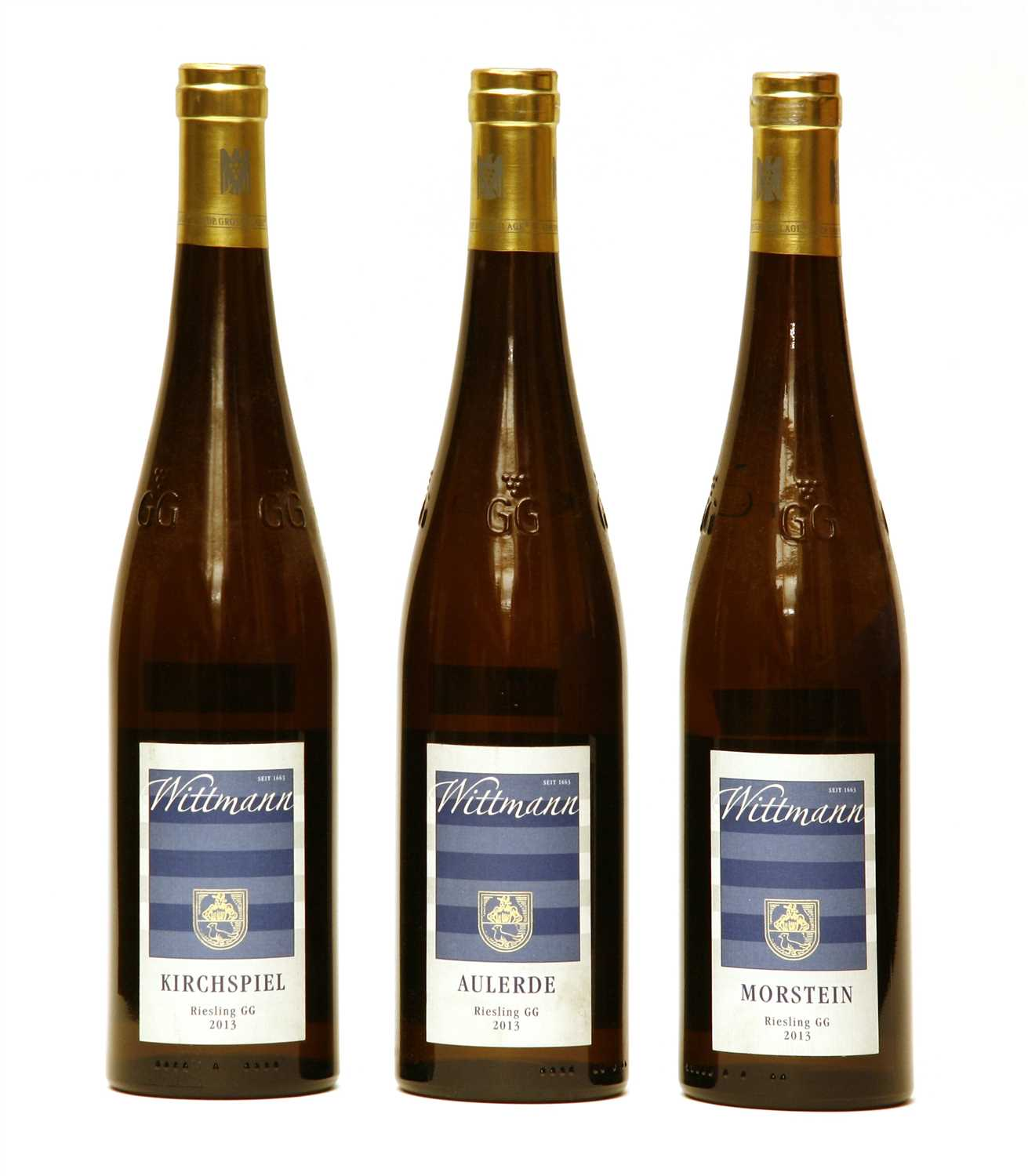 Lot 4-Wittmann, Riesling GG, 2013, one bottle each Aulerde, Morstein and Kirchspiel, three bottles total