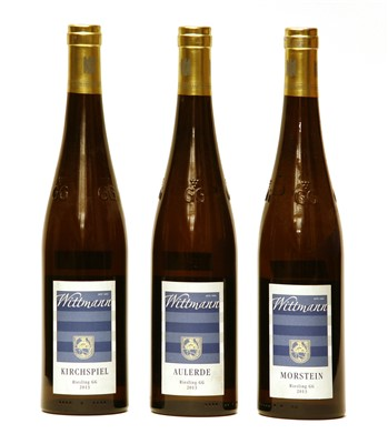 Lot 2-Wittman, Riesling CG, 2013, one bottle each Aulerde, Morstein and Kirchspiel, three bottles in total