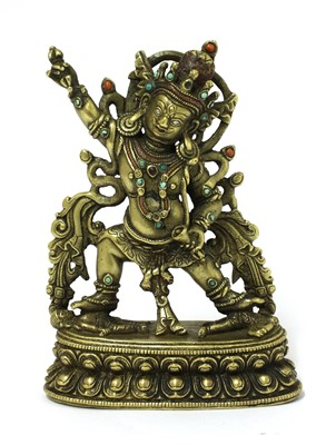 Lot 350 - A Tibetan bronze bodhisattva