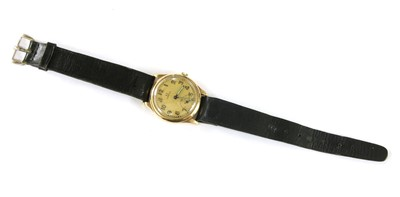 Lot 10-A 9ct gold Omega gents strap watch