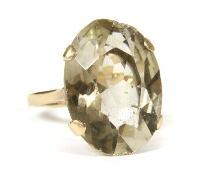 Lot 5-A 9ct gold smokey quartz ring