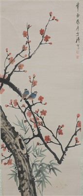 Lot 339 - A Chinese hanging scroll