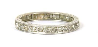 Lot 50-A diamond eternity ring