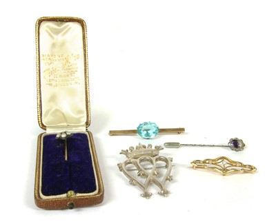 Lot 37-A Scottish silver Luckenbooth brooch