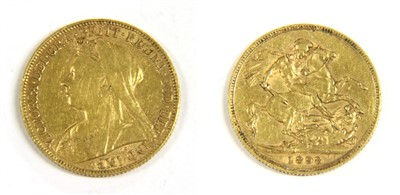 Lot 32-A gold 1898 full sovereign
