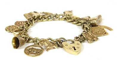 Lot 4-A rolled gold curb chain bracelet