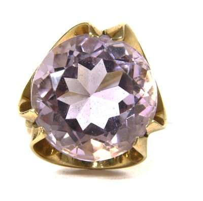 Lot 6-A 9ct gold amethyst ring