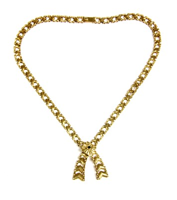 Lot 25-A graduated chevron link necklace