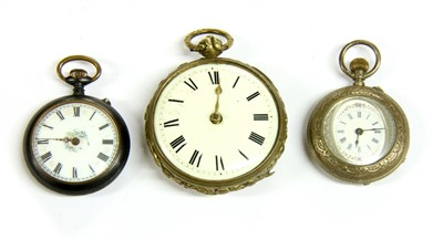 Lot 27-Three pocket watches
