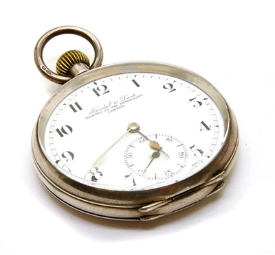 Lot 44-A Kendal & Dent silver top wind open faced pocket watch